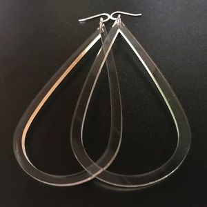 Jewelry , CLEAR TEAR DROP EARRINGS Medium